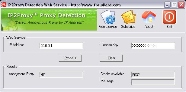 Click to view IP2Proxy Anonymous Proxy Detection 2.0 screenshot